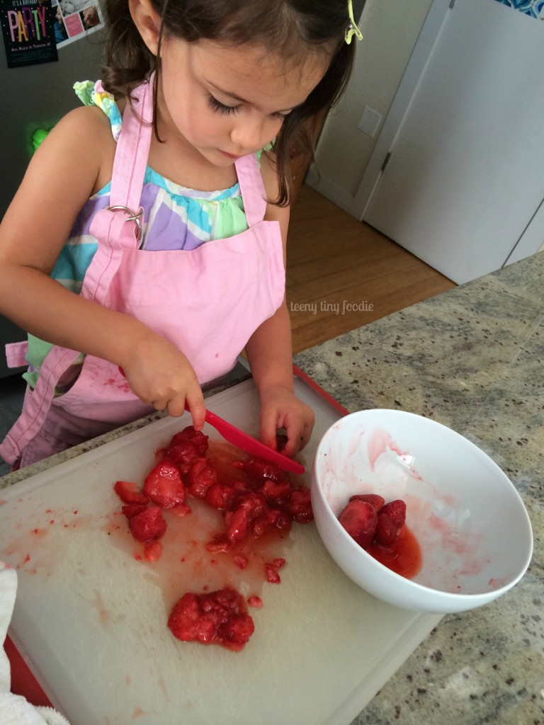 Make your little chef the star of a cooking video! Read this post on teeny tiny foodie for more information. #kidsinthekitchen