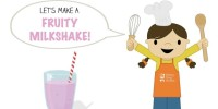 Let's Make a Fruity Milkshake! from teeny tiny foodie is a free printable #toddler #recipe written for toddlers and kids to follow with support of a grown up. See more at teenytinyfoodie.com. #kidscancook #kidsinthekitchen #toddlerscancook #teenytinytoddlerrecipe #Valentines #dessert