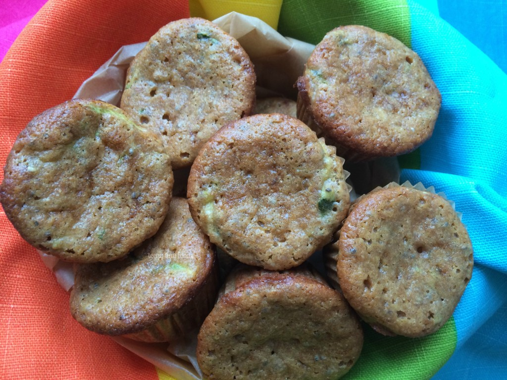 teeny zucchini muffins from teeny tiny foodie is being shared as part of the #LoveHealthy Veggie Love Campaign #zucchini #muffins #healthy #veggies