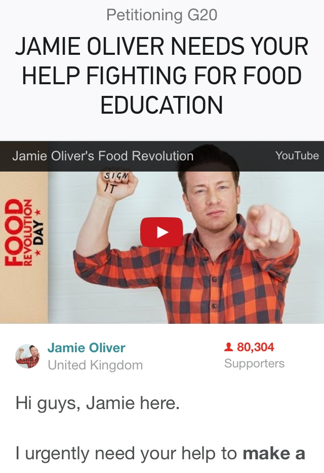 Food Revolution Day by Jamie Oliver