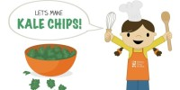 Let's Make Kale Chips! from teeny tiny foodie is a free printable #toddler #recipe written for toddlers and kids to follow with support of a grown up. #kidscancook #kidsinthekitchen #toddlerscancook #teenytinytoddlerrecipe