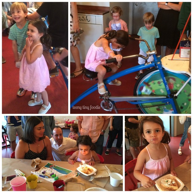 Eliana's birthday party at Ample Hills Creamery from #teenytinyfoodie.