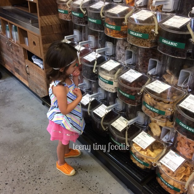 Today we are checking out our new #WholeFoodsMarket. Eliana is looking for what's the same as our old WF Market in Brooklyn and what's different. We are on the hunt to figure it out! #teenytinyfoodie #outofthekitchen