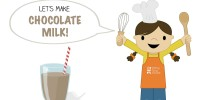 Let's Make Chocolate Milk! from teeny tiny foodie is a #free #printable #toddler #recipe written for toddlers and kids to follow with minimal support from a grown up. Visit teenytinyfoodie.com to see more! #teenytinyfoodie #recipeforkids #kidscancook #kidsinthekitchen #toddlerscancook #teenytinytoddlerrecipe #KidsCookMonday