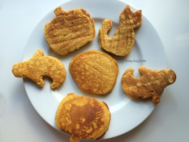 Spooky Pancakes ready to be cooled and frozen by teeny tiny foodie