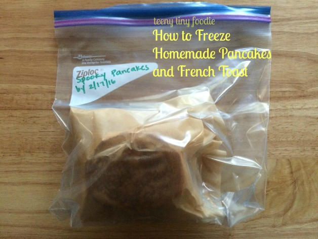 How to Freeze Homemade Pancakes and French Toast by teeny tiny foodie