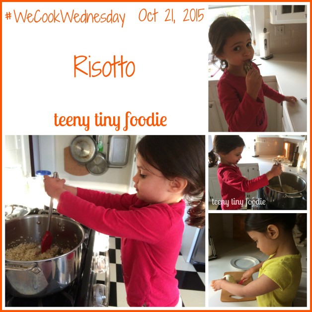 Eliana and I made this Bubbles and Butternut Squash Risotto together for #WeCookWednesday. This recipe, from teeny tiny foodie, is a scrumptious recipe you can make with kids that's perfect for winter. It's packed with antioxidants, fiber and nutrients as well as tons of flavor. #teenytinyfoodie #kidsinthekitchen #kidscookmonday