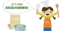 Let's Make Green Hummus is our latest Toddler Recipe written just for kids! Visit the post to print the full recipe for free! #teenytinyfoodie #teenytinytoddlerrecipes #stpatricksday #cookingwithkids #kidscookmonday