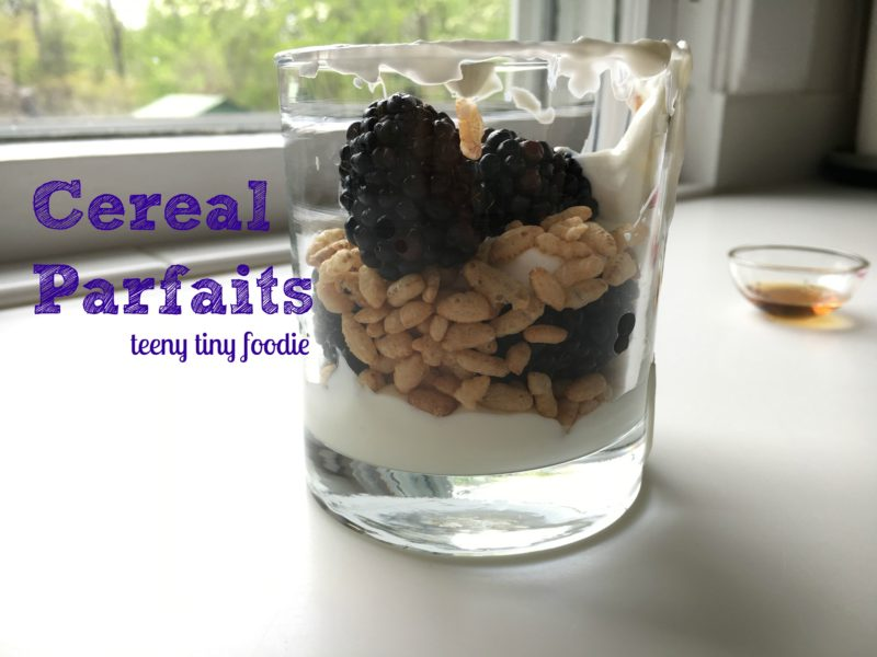 Cereal Parfaits are an easy and healthy;thy breakfast your kiddo can make all alone!
